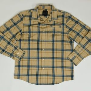 Oakley Regular XL Yellow   Button Down Polyester s